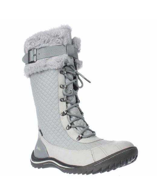 Jambu | Gray Williamsburg Sherling Snow Boots | Lyst
