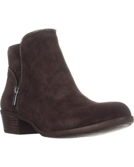 Lucky Brand - Brown Boide Zip Accent Ankle Boots - Lyst