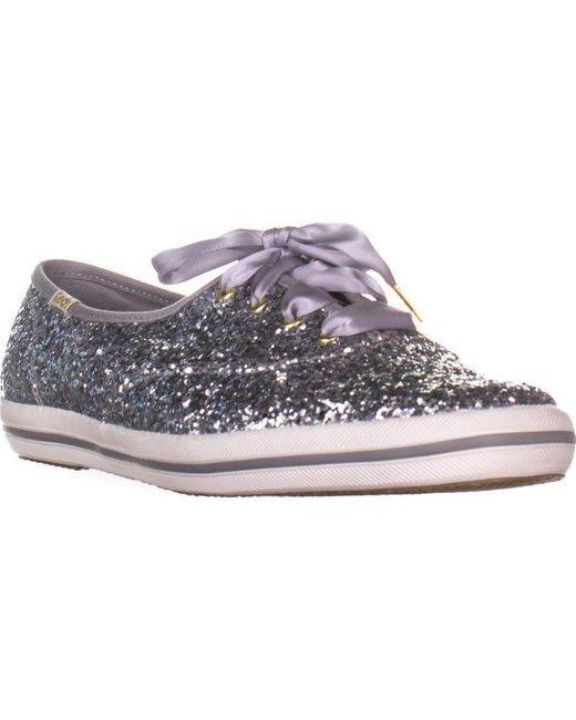 1b80a2f09ccf Kate Spade - Metallic Keds Champion Silver Glitter Sneakers - Lyst ...