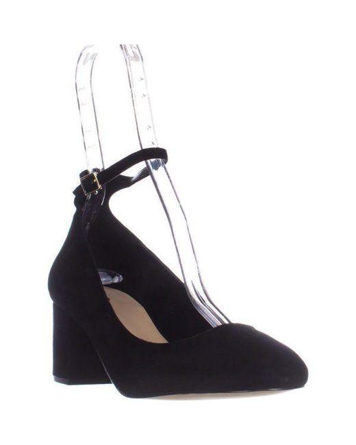 e12ea73eee4 ALDO - Black Clarisse Ankle-strap Block Heel Pumps - Lyst ...
