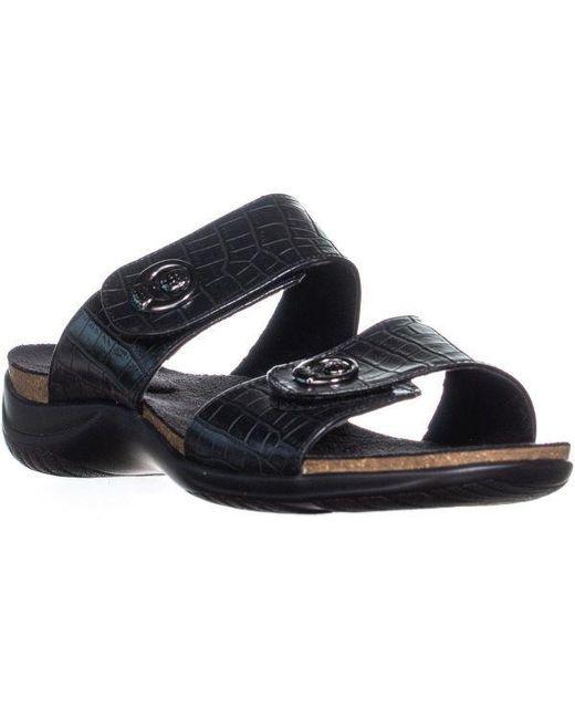 671b81674e6f Easy Street - Black Dory Slide On Sandals - Lyst ...