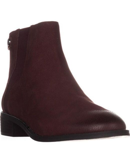 9f087f600f16 Lyst - Franco Sarto Brandy Flat Casual Ankle Boots in Brown - Save ...