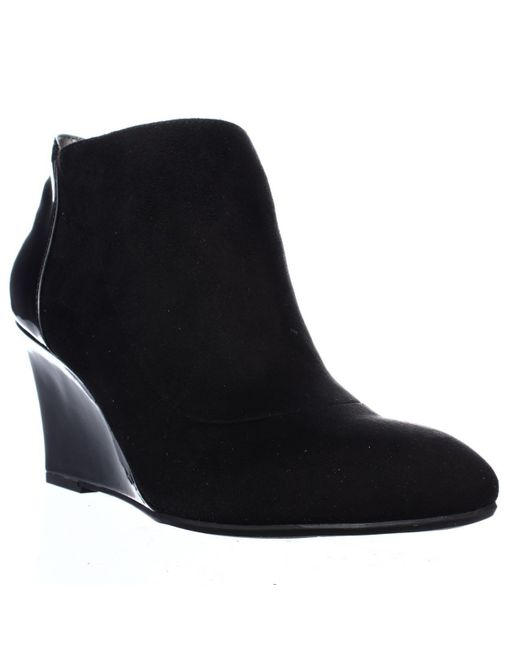 Bandolino | Black Yihana Wedge Booties | Lyst