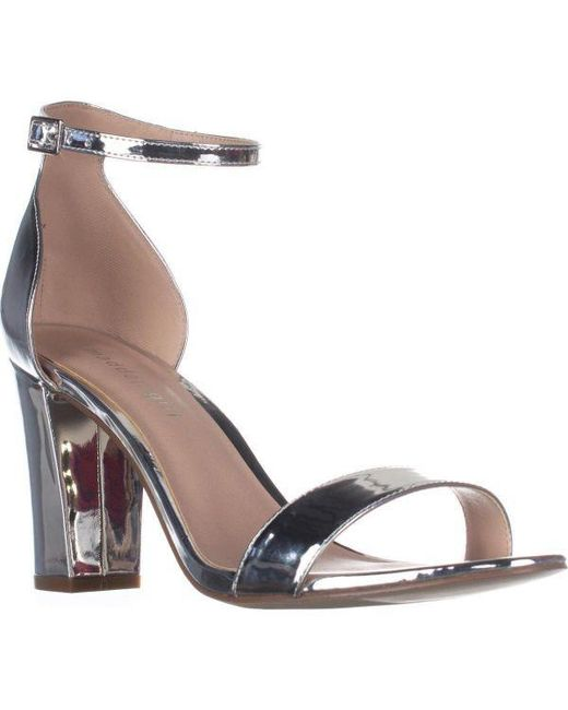 c6d0ee2b9e1 Madden Girl - Metallic Beella Ankle Strap Dress Sandals - Lyst ...