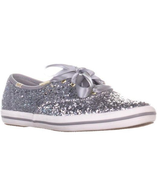2c035e86b8 Keds - Metallic X Kate Spade New York Ch Ks Glitter Lace Up Sneakers - Lyst  ...