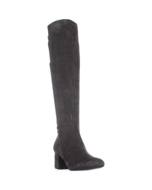 8bb49ce787f DKNY - Gray Cora Low-heel Knee High Boots - Lyst ...