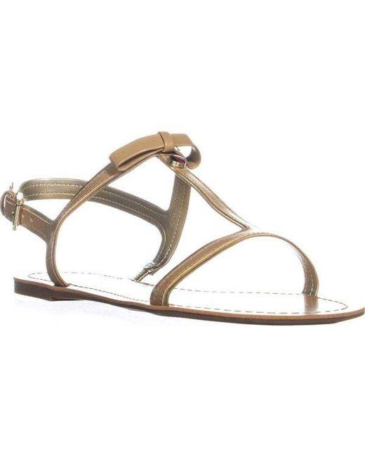 077a621b3a1 Tommy Hilfiger - Natural Lisel T-strap Slingback Sandals - Lyst ...
