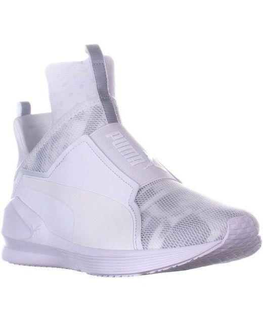 1da9a3f75b75 PUMA - White Fierce Swan High Top Slip On Sneakers - Lyst ...