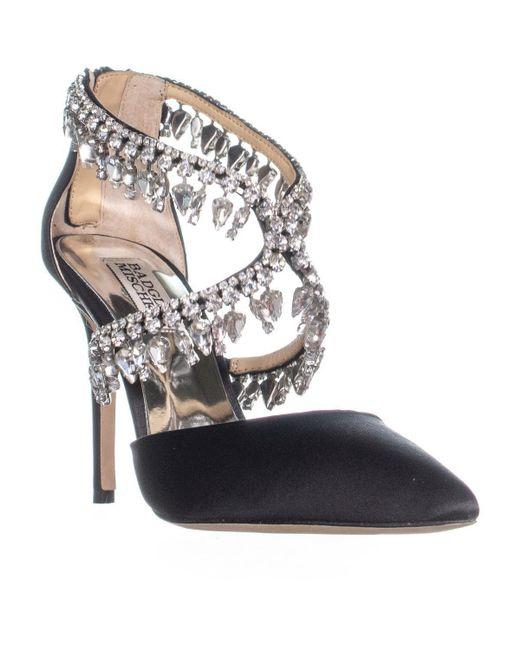 Badgley Mischka - Black Glamorous Dress Pumps - Lyst