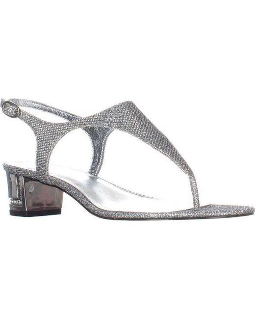 Adrianna Papell - Metallic Cassidy T-strap Sandals - Lyst