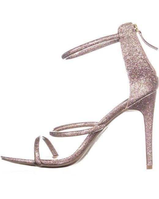 7241deb6154 Lyst - Bebe Berdine Strappy Dress Sandals in Pink - Save 13%