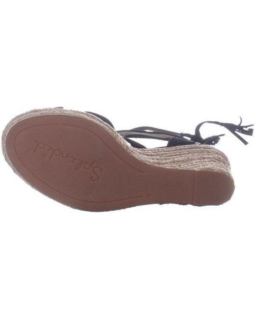 83508c34e42 ... Splendid - Black Janice Espadrille Wedge Strappy Sandals - Lyst