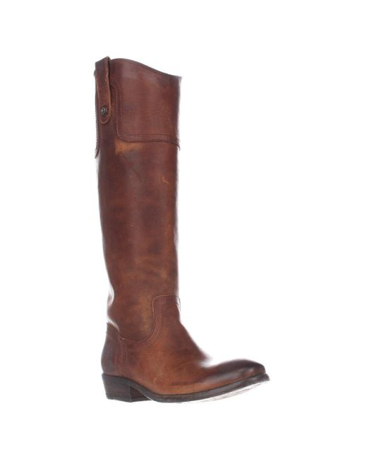 Frye | Brown Carson Riding Button Western Tall Boots - Cognac | Lyst
