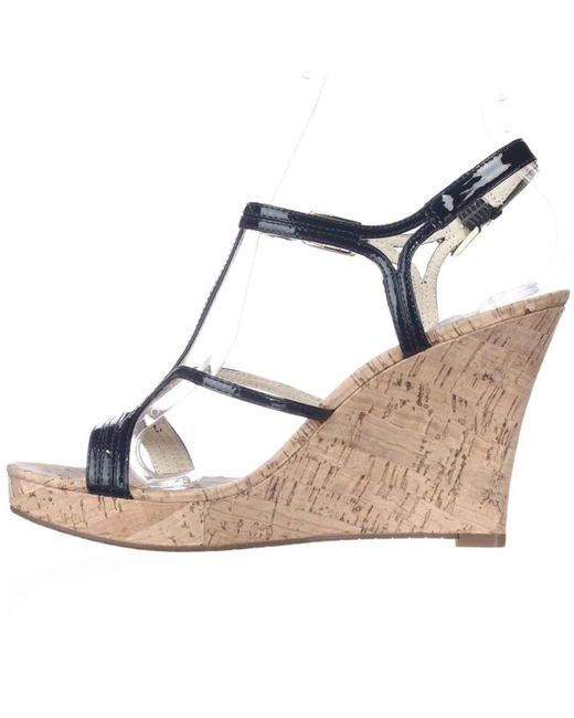Michael kors Michael Cicely Wedge Strappy Cork Sandals in ...