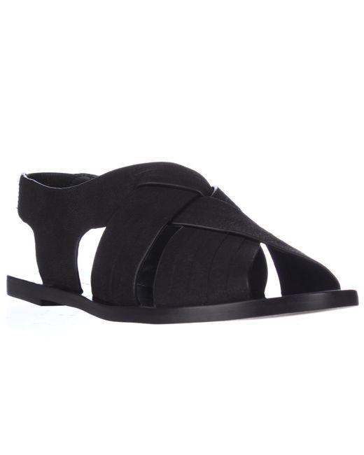 Tahari | Black Elie Seacliff Flat Huarache Sandals | Lyst