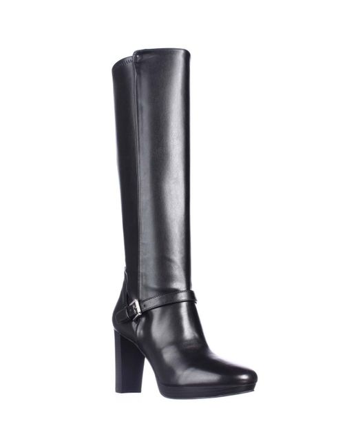 nine west kacie knee high dress boots in black lyst