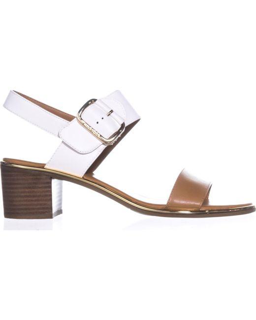 6b86f16230b4 ... Tommy Hilfiger - White Katz2 Block-heel Slingback Sandals - Lyst ...
