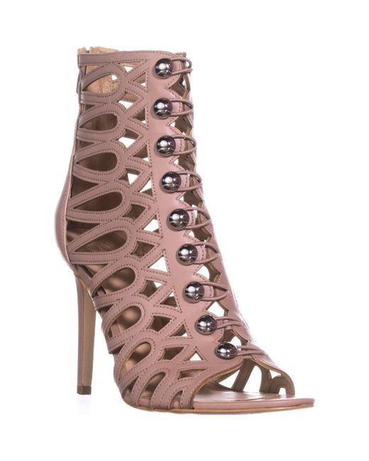 Guess - Pink Gues Perlina2 Gladiator Ankle Booties - Lyst