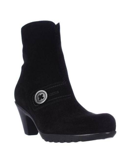 La Canadienne | Dorthea Button Winter Ankle Boots - Black | Lyst