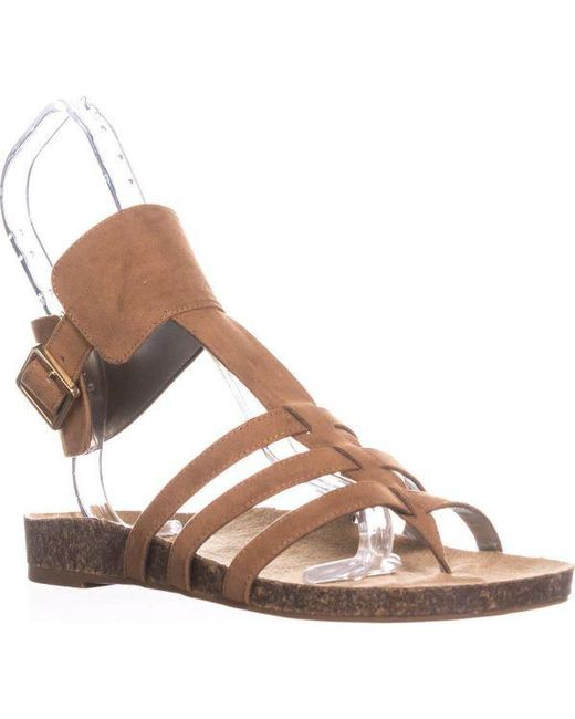 Sam Edelman - Brown Circus By Katie Ankle Strap Flat Sandals - Lyst
