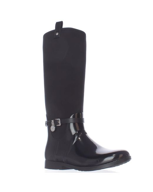 Michael Kors | Black Michael Charm Stretch Rainboots | Lyst