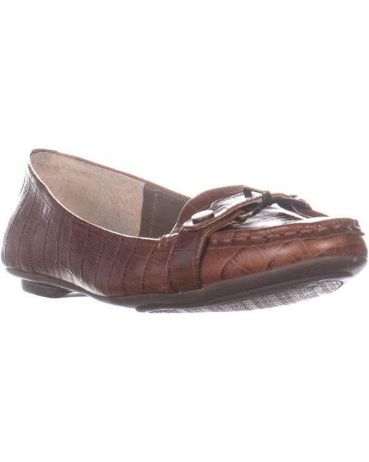 8b2a430ed9e Bandolino - Natural Yes You Can Flat Slip On Loafers - Lyst ...