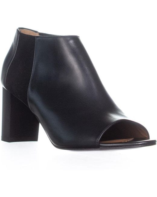 Aquatalia - Black Shaw Peep Toe Block Heel Shooties - Lyst