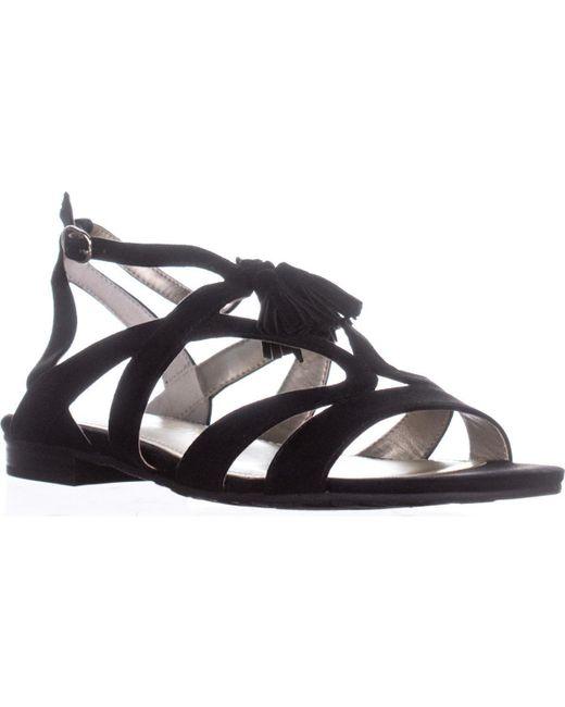 Anne Klein - Black Noreena Heeled Sandals - Lyst