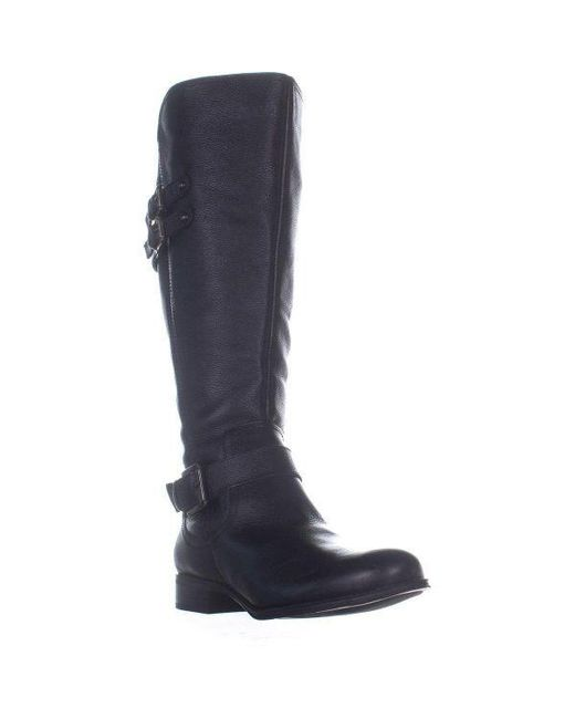 390c13cfb6d Naturalizer - Black Jessie Wide Calf Knee High Boots - Lyst ...
