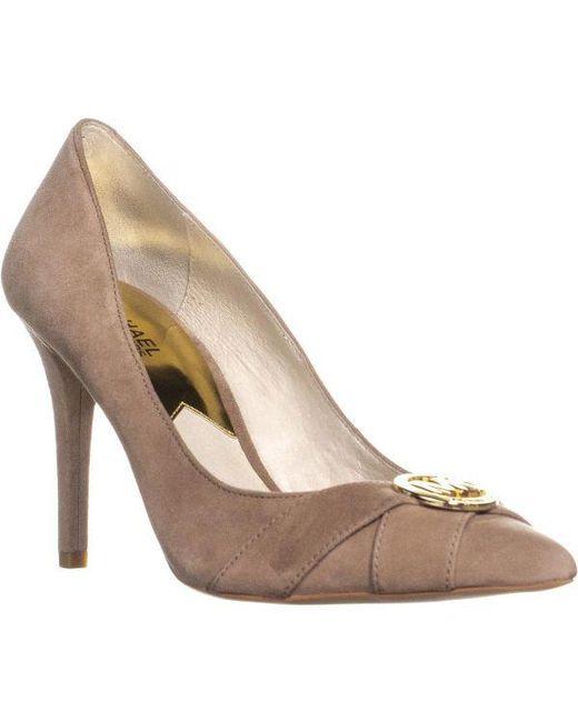 eb34b5d87f0 Michael Kors - Multicolor Caroline Pump Logo Pointed Toe Classic Heels -  Lyst ...