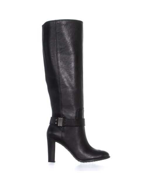 0b6597b6aa1 ... Enzo Angiolini - Black Sumilo Riding Ankle Belt Knee High Boots - Lyst  ...