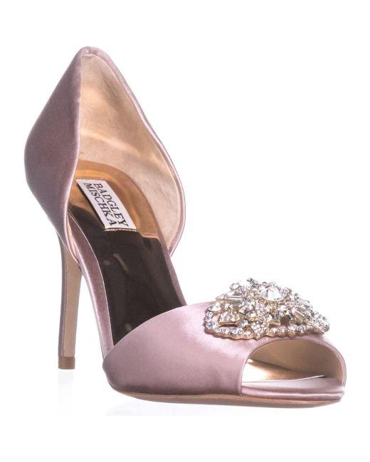 Badgley Mischka - Pink Dana Peep Toe Pumps - Lyst