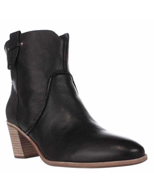 G.H.BASS - . Sophia Western Ankle Booties, Black - Lyst