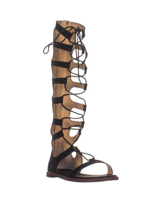 Chinese Laundry - Black Galactic Tall Lace Up Gladiator Sandals - Lyst ...