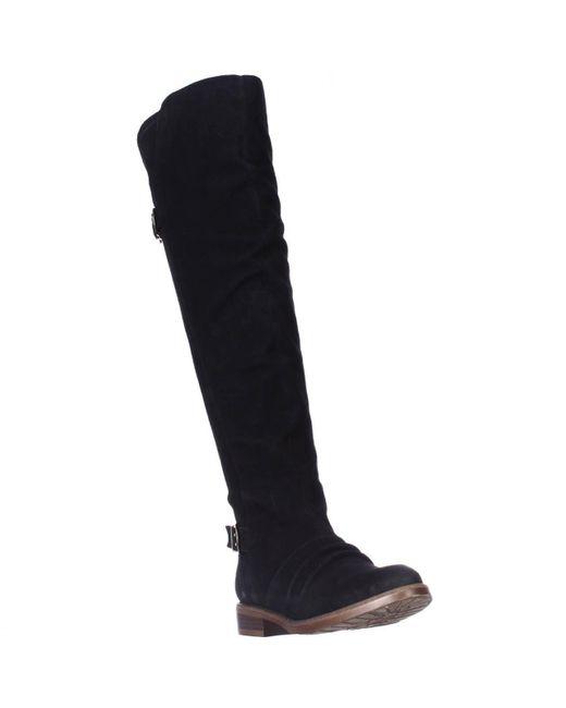 Kensie | Stella Over-the-knee Boots - Black Suede | Lyst