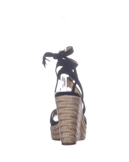 5feeca2ce54 ... Splendid - Black Janice Espadrille Wedge Strappy Sandals - Lyst ...