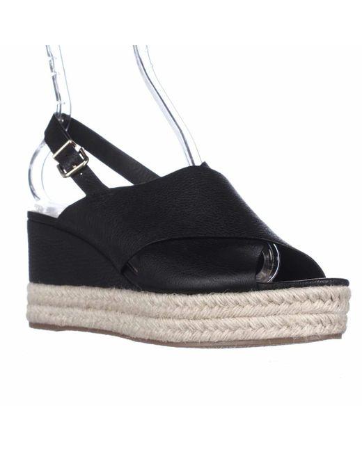 Via Spiga | Black Triana Espadrille Slingback Wedge Sandals | Lyst