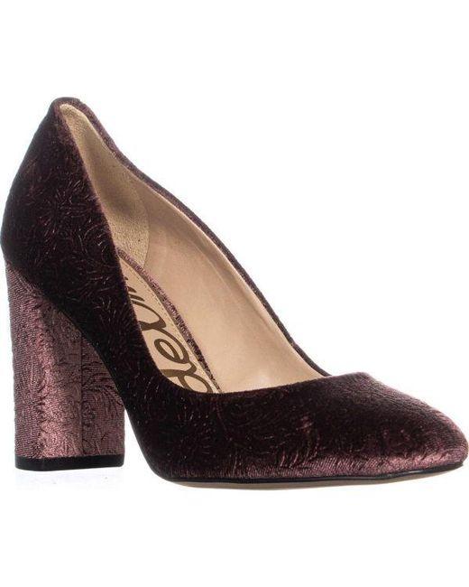 d020c3c29 Sam Edelman - Purple Stillson Block Heel Classic Pumps - Lyst ...