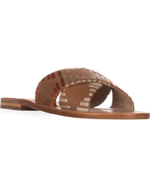 Kelsi Dagger Brooklyn - Brown Brooklyn Crown Slide Sandals - Lyst