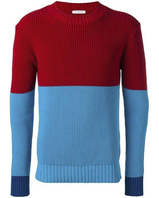 J.W. Anderson   Blue Colour Block Jumper for Men   Lyst