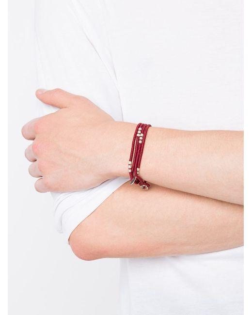 M Cohen | Red Beaded Bracelet | Lyst