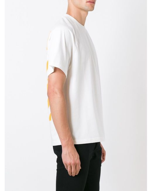 Moncler x off white printed t shirt for men lyst for Off white moncler t shirt