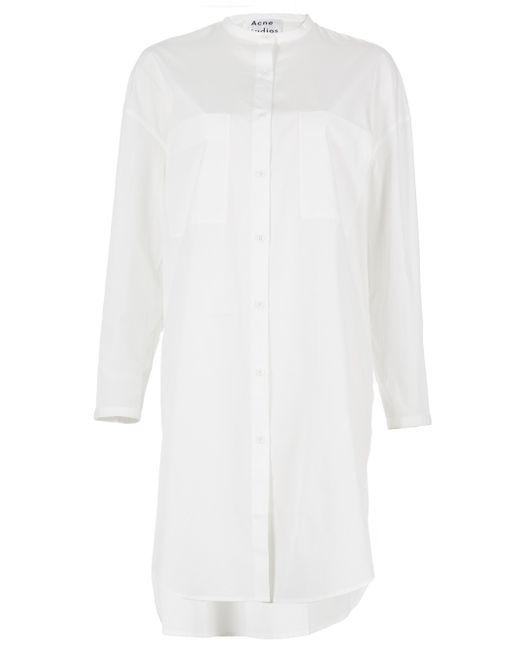 Acne | Multicolor 'esloane' Oversized Shirt Dress | Lyst