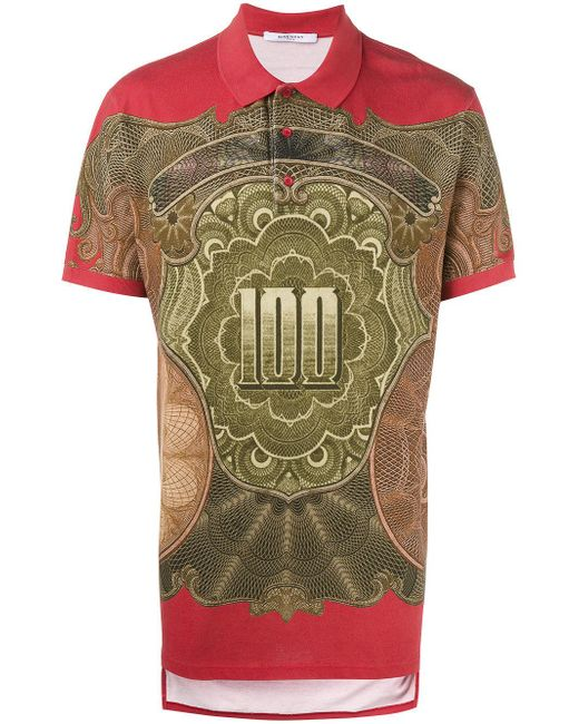 Givenchy - Multicolor Dollar Print Polo Shirt for Men - Lyst