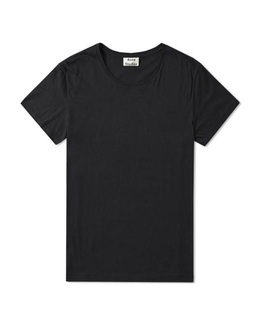 Acne | Black Standard O T-shirt for Men | Lyst