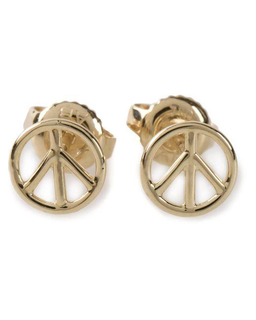 Aurelie Bidermann - Metallic Peace Earrings - Lyst