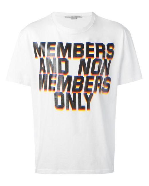 Stella McCartney   White Members Print T-shirt for Men   Lyst