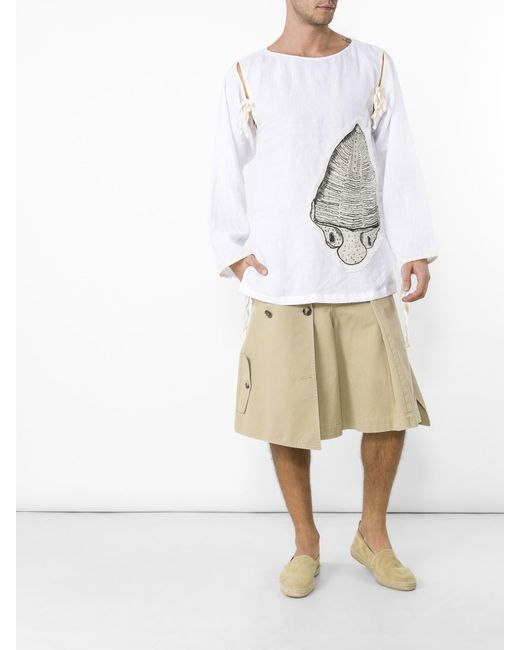Loewe   Natural Trench Shorts for Men   Lyst