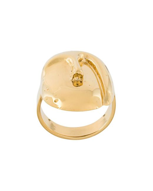 Aurelie Bidermann | Metallic 'melina' Oval Mask Ring | Lyst