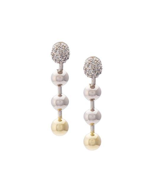 Eddie Borgo   Multicolor Short Ball Chain Drop Earrings   Lyst